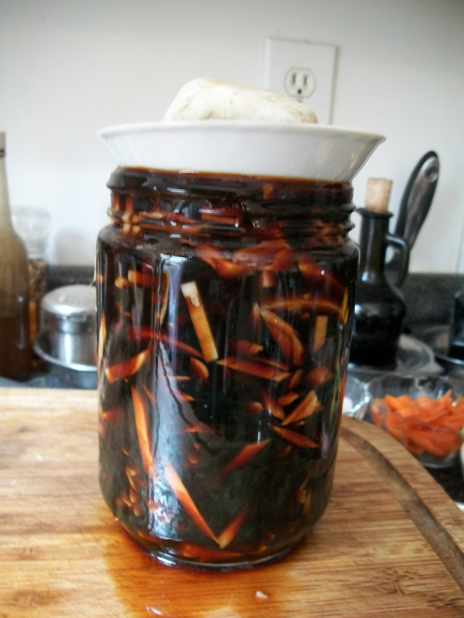 Fermented vegetables fermenting