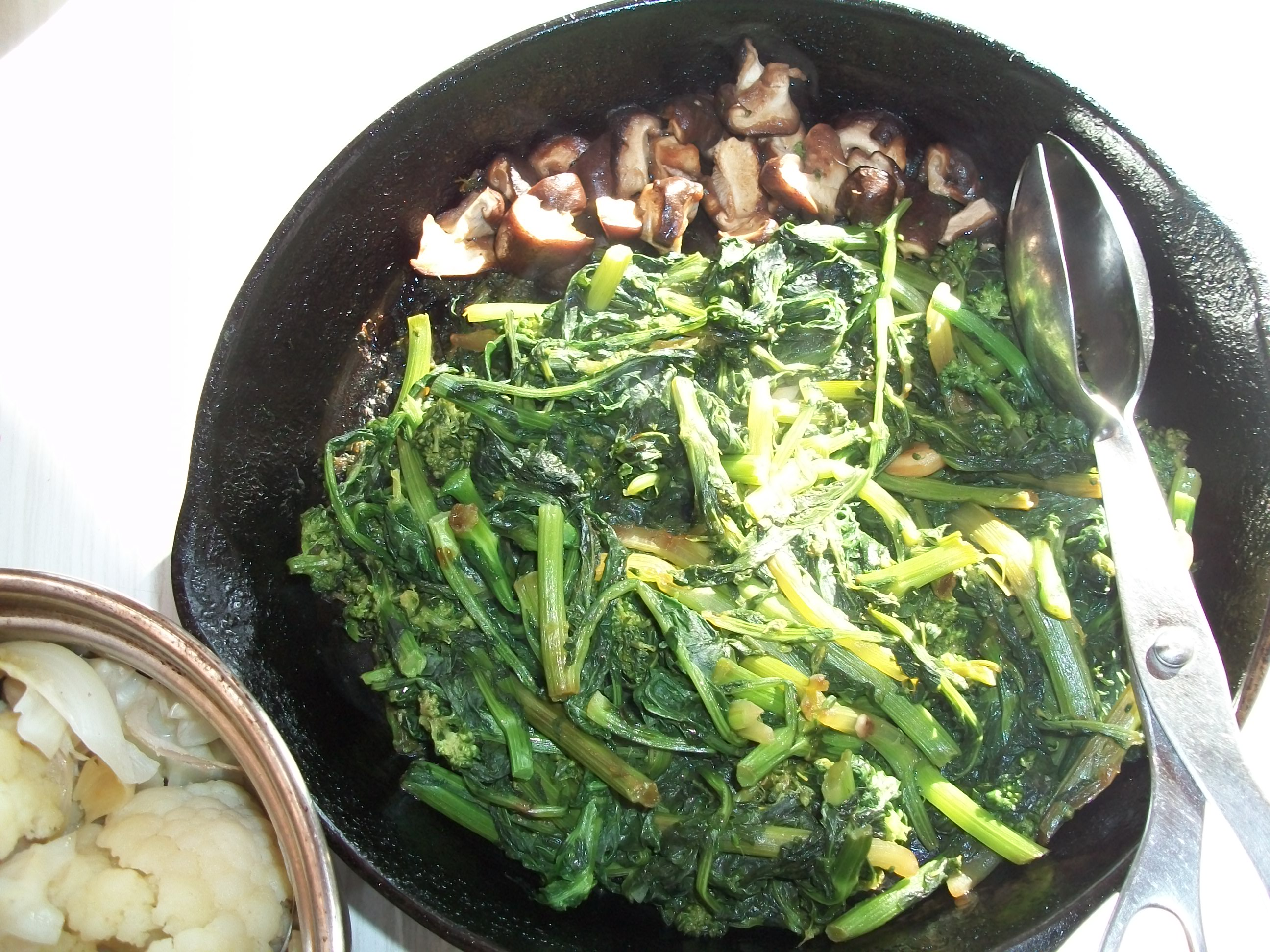 Broccoli Rabe with Fresh Shiitake