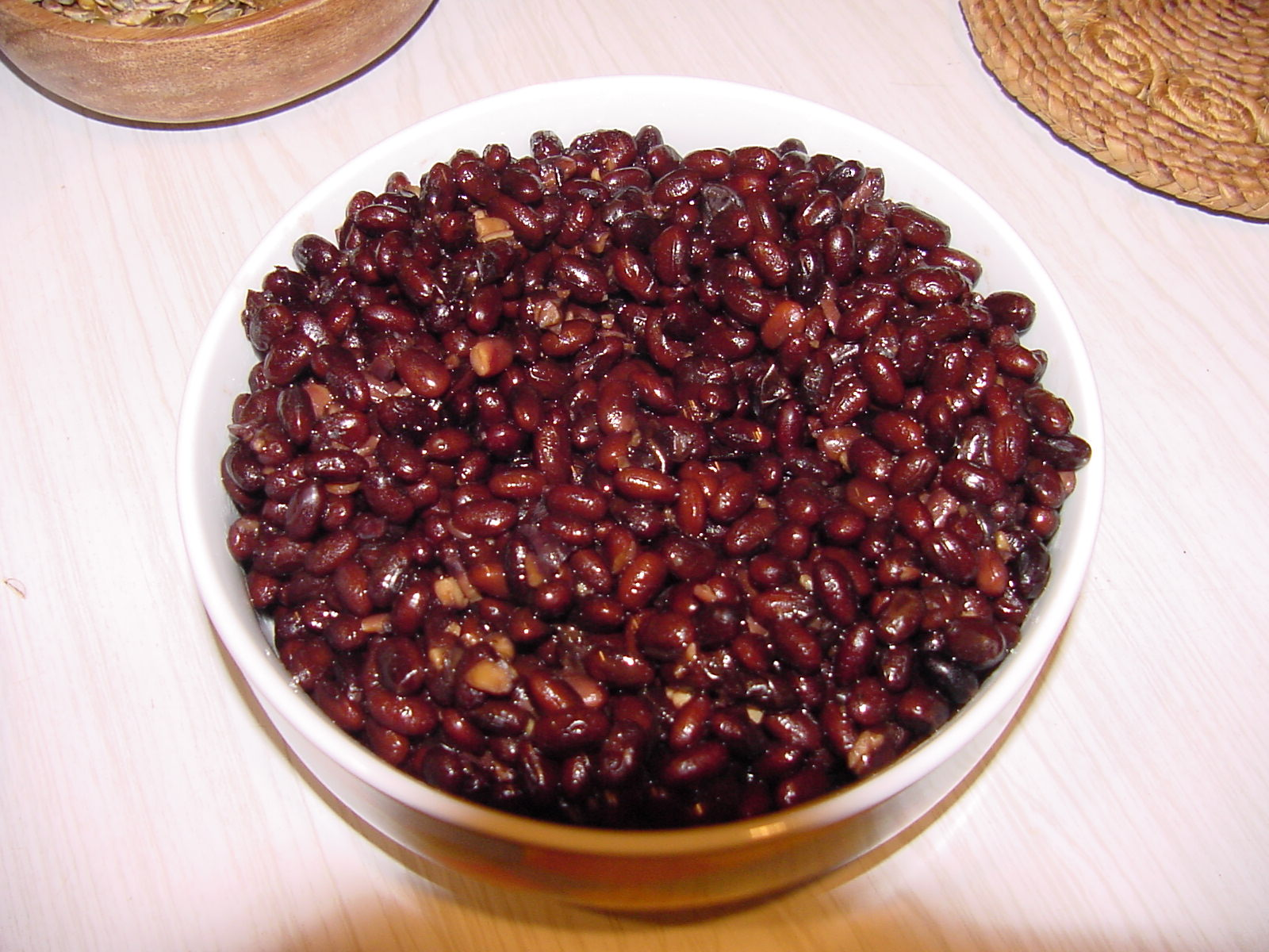 Bowl of Black Soy Beans