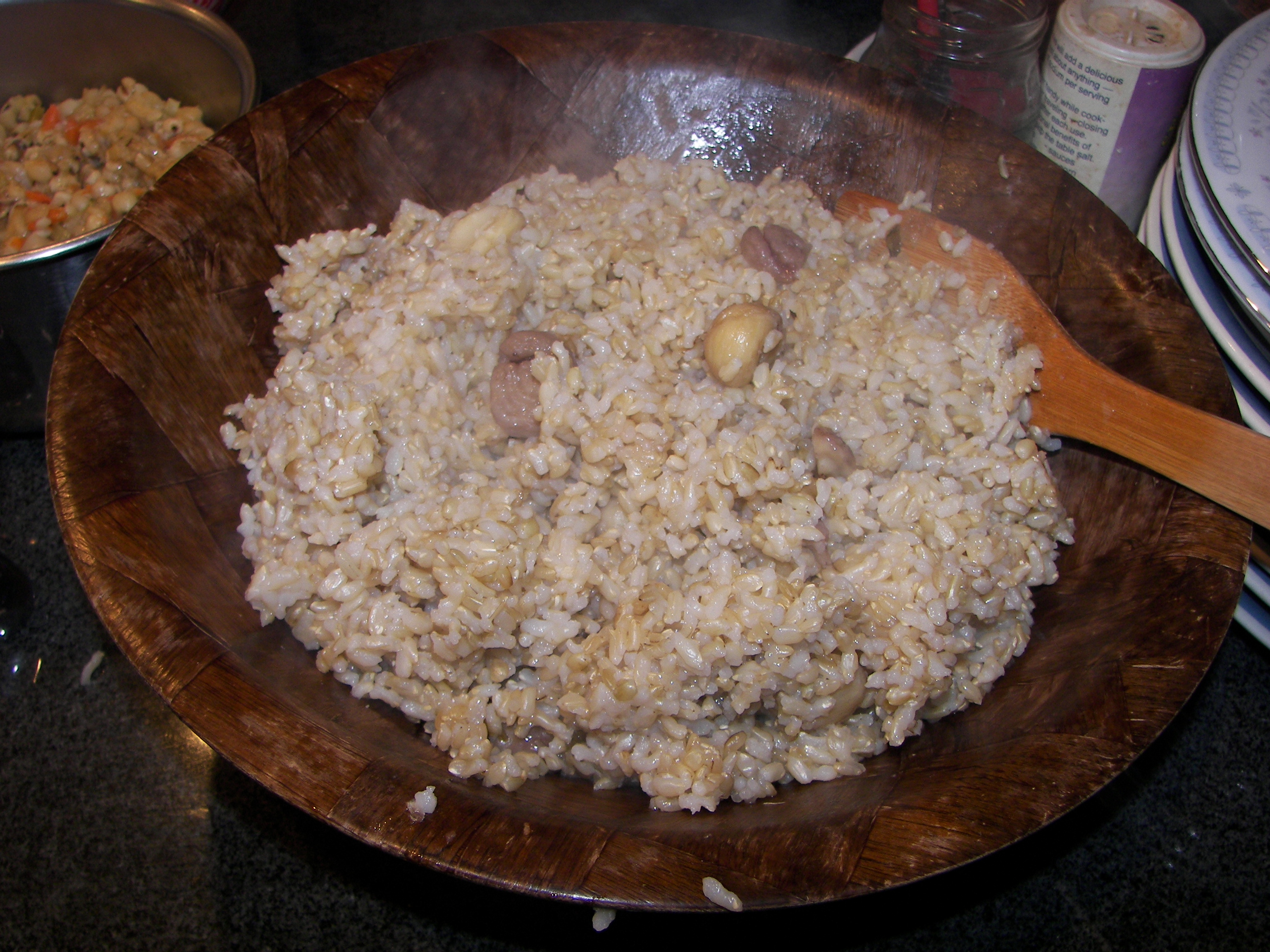 rice and chestnuts